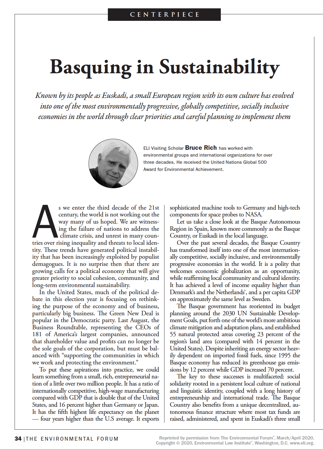 Little Nation That Could: Basquing in Sustainability